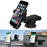 #8: Interio Quick Touch One Adjustable Car Windshield/Dashboard/Working Desk Mount for Phones upto 2.3 - 3.2 inches, 3rd Generation (Black)