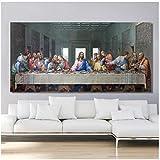 kingxqq Das letzte Abendmahl Poster und Druck Wandkunst Leinwand Gemälde Gemälde Kunst für Wohnzimmer Decor-50x100cm Kein Rahmen