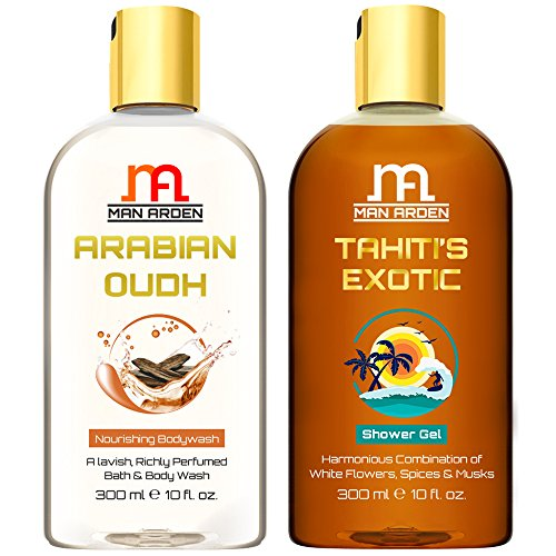 Man Arden Arabian Oudh + Tahiti's Exotic Luxury Shower Gel with Essential Oils - 300 ml