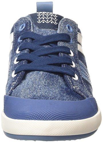 Geox Jungen Kiwi I Lauflernschuhe Sneakers Blau (Light Jeans/Dark Sky)