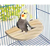 21 Cm / 8.5 Inch Natural Wood Mountable Perch Platform Suitable For All Pet Birds (for Comfortable Sleep & Feeding)