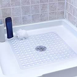 Slip-x Solutions Deluxe Square Shower Mat (Clear)