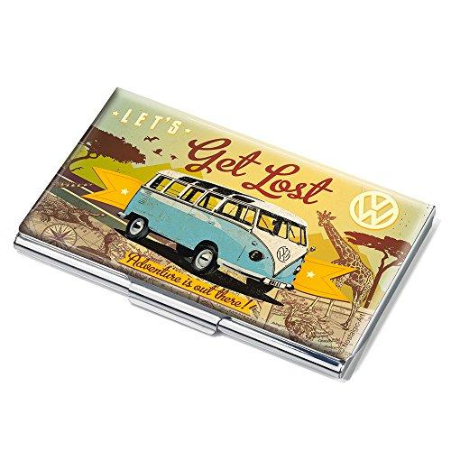 VW LET'S GET LOST Visitenkartenetui - #CDC10-A601 - mehrfarbig - Metall - Motiv: LET'S GET LOST - Official licensed by VOLKSWAGEN - passend für ca. 11 Karten - das Original von TROIKA Hawaii-original-kunst