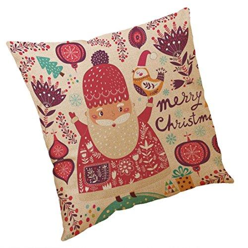 AMUSTER Weihnachtsbaum Kissenbezug kissenhülle Kopfkissenbezug Bettkissenbezug Pillowcase Dekorativer Kissenbezug 45 * 45cm E