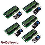 AZDelivery ⭐⭐⭐⭐⭐ 5 x HD44780 1602 LCD Display Modulo Pantalla con Interfaz I2C 2x16 Caracteres para Arduino con ebook Gratis!