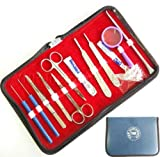 515GMVwUHcL. SL160  - BeautyTrack® - Red Tweeze Set With Leather case, pefectly aligned,Hand made Stainless Steel, England Flag design, slant & Point Tweezers Set Reviews and price compare uk