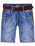 Kinder Jungen Jeans Shorts inkl Gürtel 22674, Größe:116