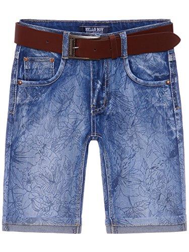 BEZLIT Kinder Jungen Jeans Shorts inkl Gürtel 22674 Größe 116 (Jungen Jeans 6 Größe)