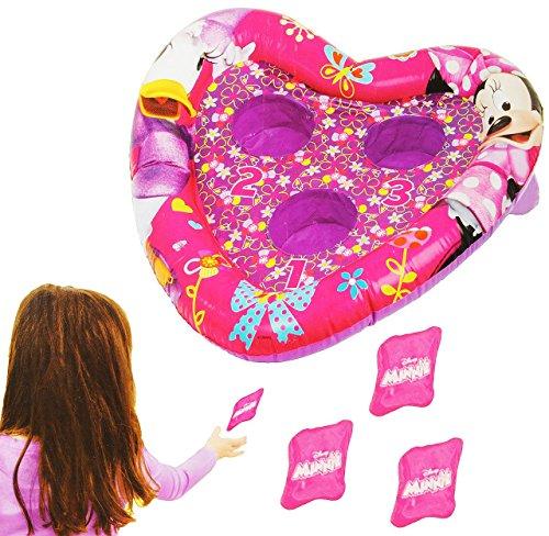 Unbekannt Wurfspiel -  Minnie Mouse  - für Draussen & Drinnen - aufblasbar - Bean Bag Kugeln / Ballspiel - Bälle - für Kinder - Mädchen - Maus Playhouse Mickey - Part..