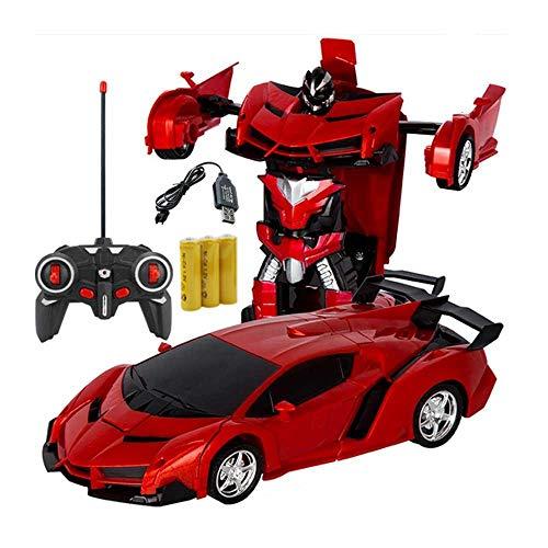 Auto-Transformator Ferngesteuertes Auto 1:18 One Touch Roboter Transformation Dual-Modi 360 Rotation Stunt-Cars elektrisches Fahrzeug wiederaufladbar ferngesteuertes RC Auto für Jungen Mädchen