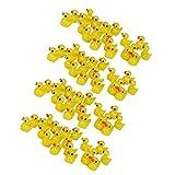 LOVIVER Jaune Ensemble De 80 Canards Caneton Miniature Résine Mini Décoration...