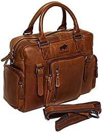 7b0e04f7dc92 Solo Pelle Messenger Leder Tasche Umhängetasche aus echtem Leder Model   Valencia -  geeignet