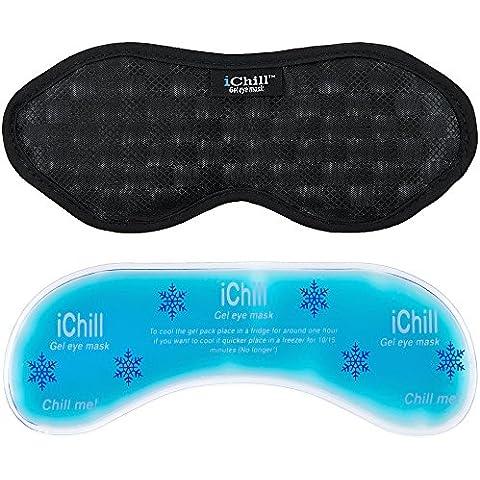 De máscara de iChill de enfriamiento de silicona y diseño de ojo de con tapa de cierre paquete de silicona