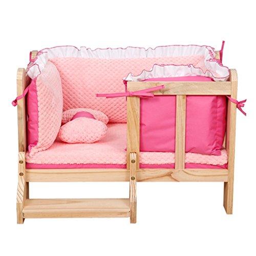 Xw letto per cani letto per cani in legno letto per animali domestici cuscini per cani canile pet supplies -x888 (colore : 4, dimensioni : s.)