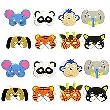 TOYMYTOY 12pcs mascarilla animal para los niños de los niños favores de fiesta de cumpleaños vestir