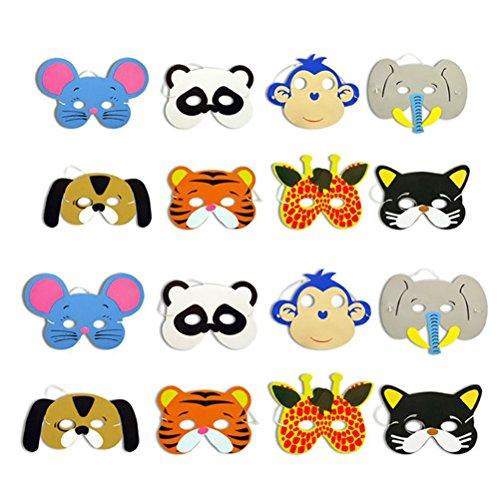 TOYMYTOY 12pcs mascarilla animal para los niños de los niños favores de...