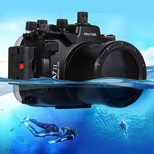 Aktionskameras,TwoCC Schwimmen Tauchen Unterwasser 40m Wasserdicht Kamera Schutzhülle für Sony A7II A7RII A7SII