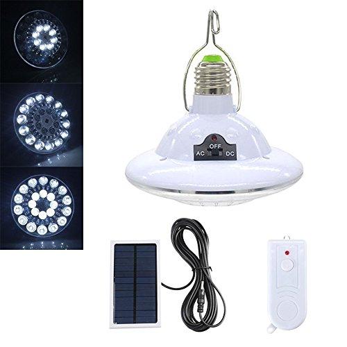 Solar-power-lampen (LED Solar Lampe–bangweier LED Taschenlampe Super Hell Notleuchten wiederaufladbarer Solar Power Fernbedienung Licht Automatische Lampe)
