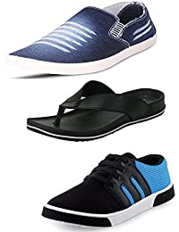 Maddy Men's Combo Of Loafer, Slipper & Casual Shoes…
