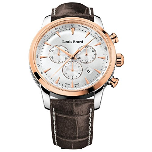 Louis Erard Men's Heritage 42mm Leather Band Quartz Watch 13900AB11.BDC101