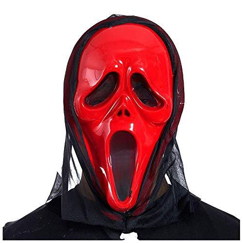 Ghost Maske Horror Kopfbedeckungen Devil Mask Scream Lustige Scary Grimace Skeleton Scream Mask ()