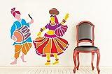Zigzacs Tanz auf Dhol Beats Wand Aufkleber Home Decor Vinyl Kunst abnehmbare Aufkleber