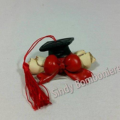 Sindy bomboniere bomboniera pergamena con cappello da laurea con nappina da appoggio fai da te 2529 6pz