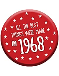 50th Birthday Badge 50 Today 76mm Pin Button Novelty Gift Men Women Made In 1968