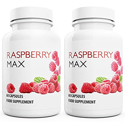 Raspberry Max 120 Capsules, 2-months Supply Raspberry Ketones Fruit Extract, a Weight Management Supplement for Men and Women