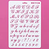 AsianHobbyCrafts Craft Stencils A4 Size: for Sketching, Scrapbooking, Kids Crafts. (Alphabet Italic)