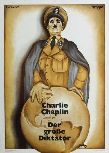 The Great Dictator Affiche du film Poster Movie Le dictateur grand (11 x 17 In - 28cm x 44cm) German Style B