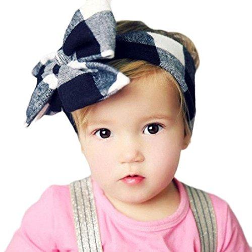 Ularmo Bébés filles Bandeau Elastique Bandeau élastique de cheveux pour les nouveau-nés (Bleu) Bleu