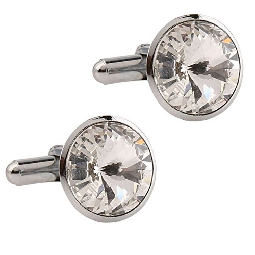Tripin Silver Brass Cufflinks With Swarovski Elements For Men In A Gift...