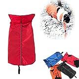 EriocyImperméable Manteau pour chien Veste, doublées en polaire vêtements plus chauds pour Chiens Manteau de Protector Belly étanche - Red M