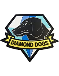 Diamond Dogs Metal Gear Solid Big Boss Snake PVC Rubber 3D Touch Fastener Patch