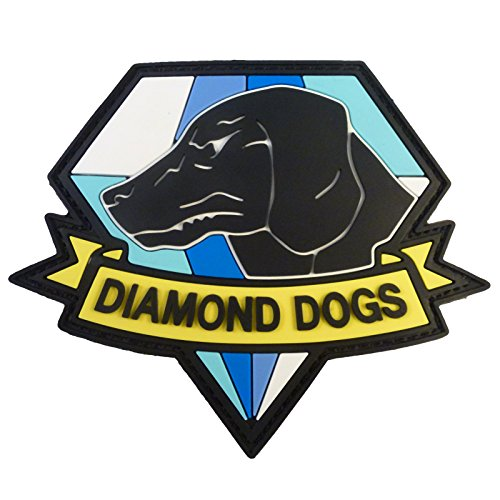 2AFTER1 Diamond Dogs Metal Gear Solid Big Boss Snake PVC Rubber 3D Hook&Loop Patch