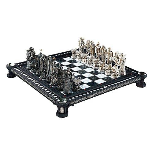 Harry Potter Schachspiel Nachbildung aus Stein der Weisen Schachbrett Hartholz Schachfiguren lizenziert 50 x 50cm