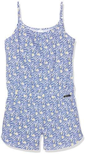 Skiny Mädchen Cosy Night Sleep Girls Overall kurz Einteiliger Schlafanzug, Mehrfarbig (sodaliteblue Tiger 1638), Herstellergröße:176 Tiger-overall