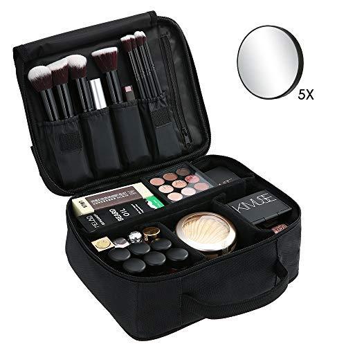 Esonmus Beauty Case Porta Trucchi da Viaggio Donna Trousse Make Up Organizer Bag Grande Valigetta Trucco Professionali con 5x Specchio e Manico Borsa