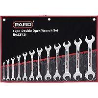 Pard pac5121p professionale doppio Open End Wrench Set, colore: nero/rosso (12)