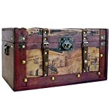 Große Holz Truhe - Die Dekorative Aufbewahrungs Truhe Im Vintage Stil