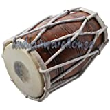 Sai Musical Dholak Drum Rope Tuned Dholki Made Of Sheesham Wood , Dhol Naal For Bhajan Kirtan.