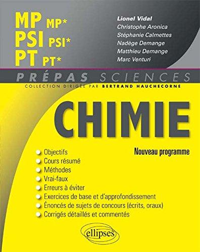Chimie MP/MP* PSI/PSI* PT/PT* Programme 2014 par Lionel Vidal