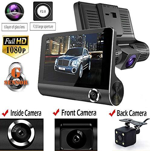ZXZXZX GPS-Autokamera 1080P Front- und 720P-Heckkamera mit Einparküberwachung, Infrarot-Nachtsicht, Bewegungserkennung und großer Dynamik (Gps-kameras)
