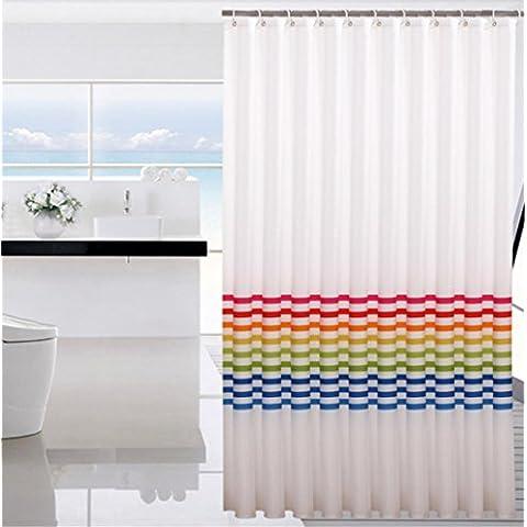 GYMNLJY tenda della doccia bar poliestere colore muffa impermeabile Bagno Spesso tagliato Hanging tenda Bagno Doccia cortina lavabile ,