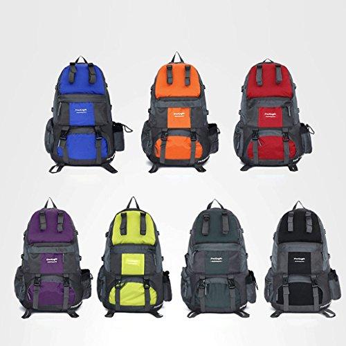 50L gli appassionati di outdoor in nylon impermeabile trekking sacchetto di grande capacità zaino sport all'aria aperta blu