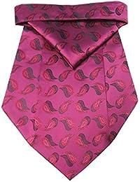 Riyasat - Pink Color Paisley Design Micro Fiber Cravat with Pocket Square (C_0069)