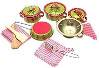 Kinder Küchengeschirr - Spiel Set - hübsches Blumen Design