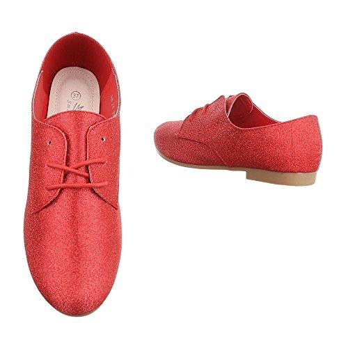 Ital-Design , Chaussures à lacets femme Rot HS21
