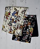 Day of the Dead Baby Burp Cloth - Set of 2 - Dribble Bib Gift Shower Skull Rag Mexican Skeleton Active